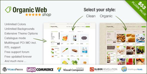 Organic Web Shop WordPress & WooCommerce Theme