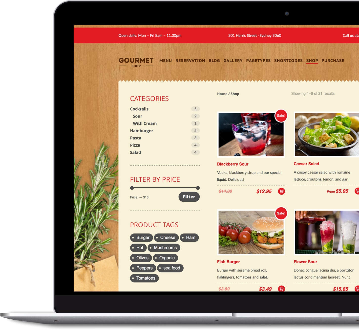 Gourmet Shop - Premium WordPress & WooCommerce Theme