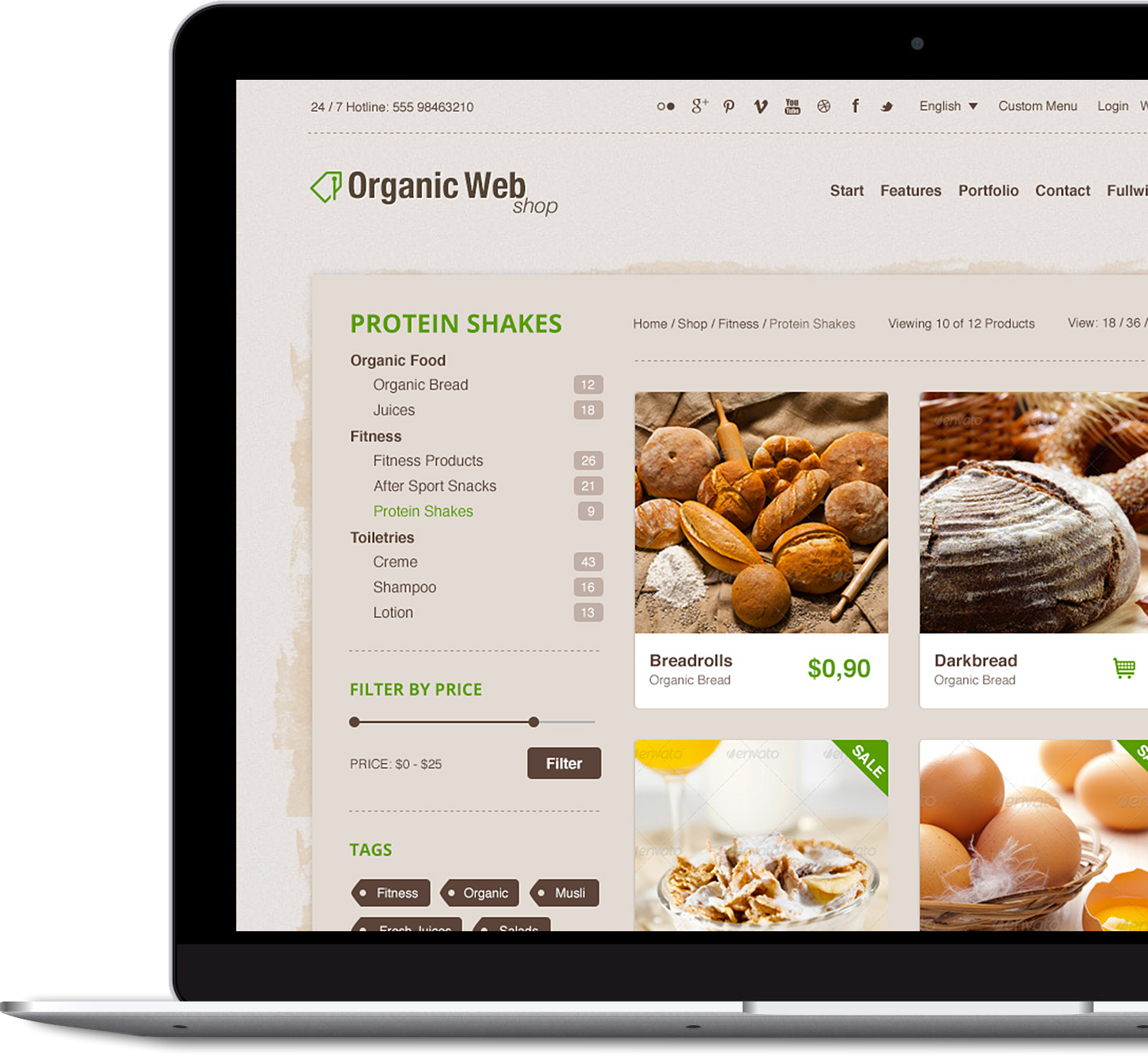 Organic Web Shop - Premium WordPress & WooCommerce Theme