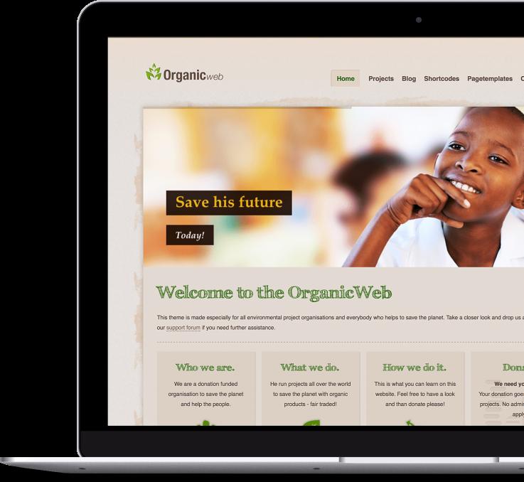 Organic Web - Premium WordPress Theme